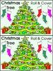 Christmas Game Activities: Christmas Tree Roll & Cover Christmas Math Center