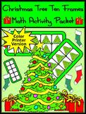 Christmas Game Activities: Christmas Tree Christmas Ten Frames Activity - Color