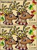 Christmas Math Activities: Reindeer Roll & Cover Christmas