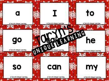 Christmas Sight Words