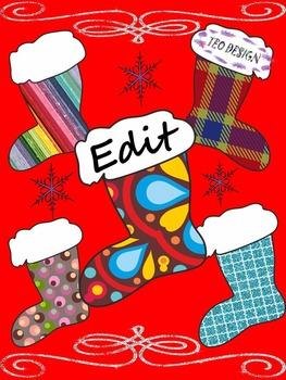 Winter Activities -  Writing - Christmas boots - Labels (Editable)