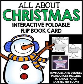 Christmas Foldable Flip Book Card