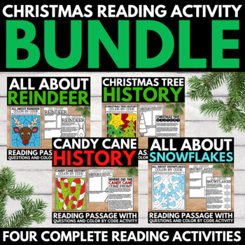 Christmas Research Project Bundle- Candy Canes, Reindeer,