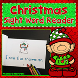 Christmas Activities : Christmas Sight Word Reader - Tracing Sentences