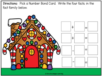 Christmas Number Bonds and Fact Families