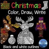 Christmas Craft: Christmas Writing Paper Christmas Colorin