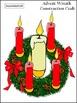 Christmas Craft Activities: Advent Wreath Christmas Craft Activity Packet