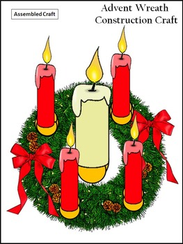 Christmas Craft Activities: Advent Wreath Christmas Craft Activity Packet