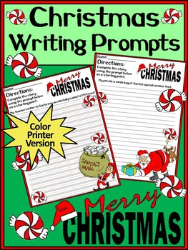 Christmas Language Arts Activities: Christmas Writing Prompts