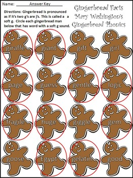 Christmas Reading Activities: Gingerbread Facts Christmas Activity Packet