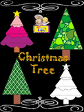 Christmas  Tree - Writing - Clip Art