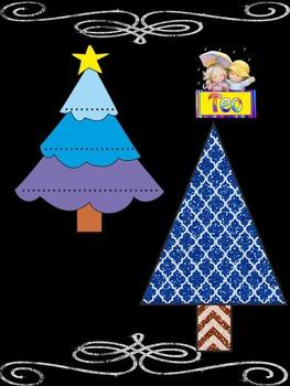 Christmas  Tree - Writing - Clip Art