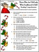 Christmas Reading Activities: Old Lady Who Swallowed a Bell Christmas Activities