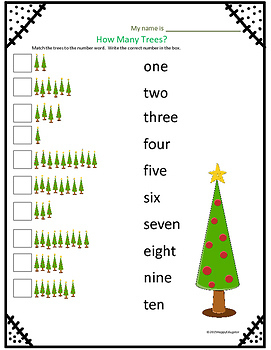 Christmas Activity - Counting Numbers 1 - 20