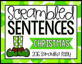 Christmas Scrambled Sentence Station