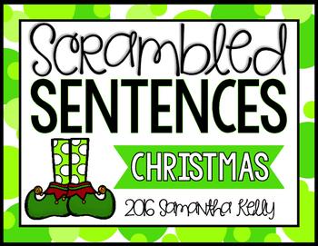 Christmas Scrambled Sentence Station
