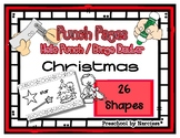 Christmas - 26 Shape Hole Punch Cards / Bingo Dauber Pages