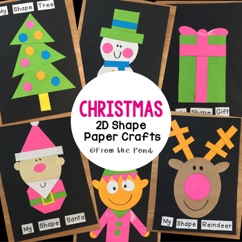 Christmas 2D Shape Paper Crafts