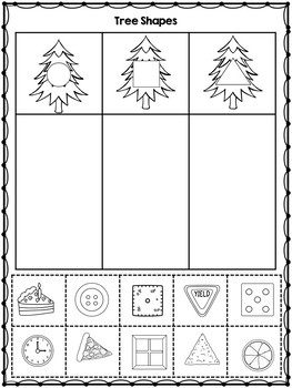 Christmas 2D Shape Sorting Center