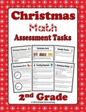 Christmas 2nd Grade Math Assessment Tasks