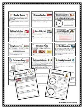 Christmas 2nd Grade Math Assessment Tasks