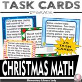 Christmas 2nd Grade Math Word Problems Task Flash Cards -