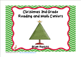 Christmas 2nd Grade Reading and Math Centers and Worksheets