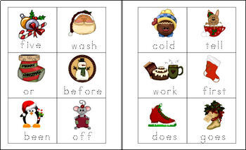 Christmas 2nd Grade Sight Words and Interactive Bulletin Board