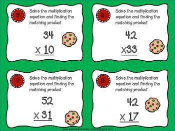 Christmas 2x2 Multiplication Matching