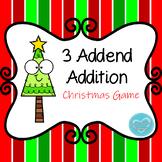 Christmas 3 Addend Addition Game