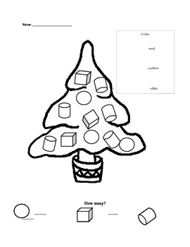 Christmas 3-D shape review page