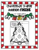Christmas 3-Digit Addition Freebie