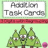 Christmas 3 Digit Addition Task Cards