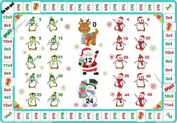 Christmas 3 and 4 Times Tables Game