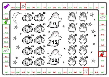 Halloween 3 and 5 Times Tables Games