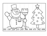 Christmas 3 digit Place value cut and paste picture