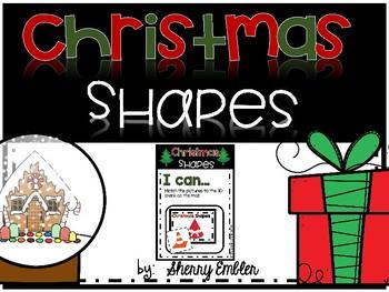 Christmas 3D Shape Sort