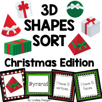 Christmas 3D Shapes Sort