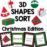 Christmas 3D Shapes Sort