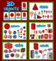 Christmas 3D Shapes Interactive Powerpoint Game with sound effects