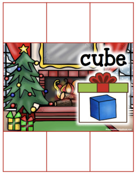 Christmas 3D Shapes Sorting (Geometric Solids)
