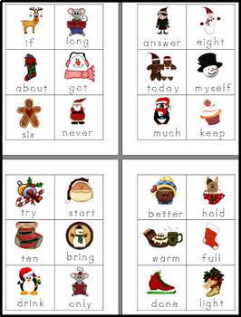 Christmas 3rd Grade Sight Words and Interactive Bulletin Board