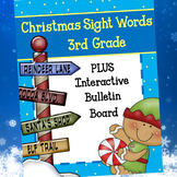 Christmas 3rd Grade Sight Words and Interactive Bulletin Board
