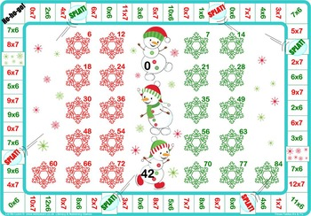 Christmas 4 and 8 Times Tables Game