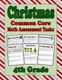 Christmas 4th Grade Math Assessment Tasks