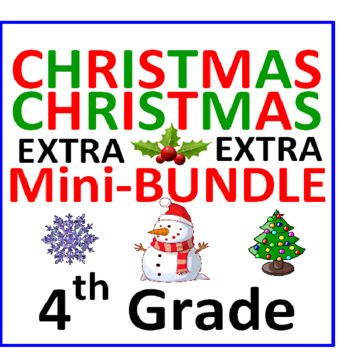 Christmas 4th Grade Mini-Bundle EXTRA (3 Items)