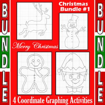 Christmas Bundle #1 - 4 Coordinate Graphing Activities