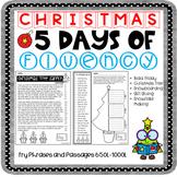 Christmas Activity | 5 Days of Fluency | Fluency