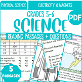 Physical Science Reading Comprehension {Set 3/3} Electricity & Magnets (PDF)