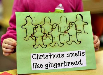 Christmas 5 Senses Interactive Book and Activities-Preschool and Kindergarten